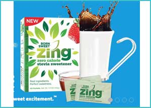 Free sample of new Zing Zero Calorie Stevia Sweetener