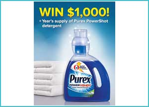 Win 1.000$ with Purex Newsletter Sweepstakes